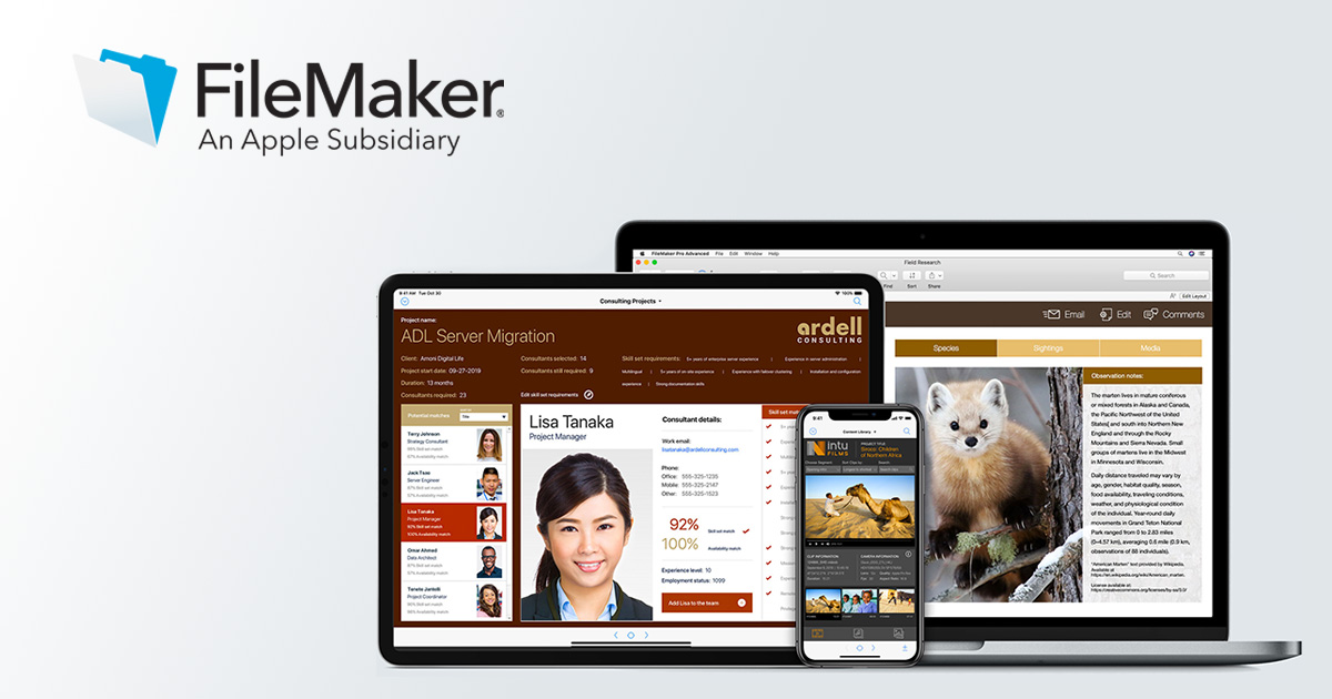 What's new in the FileMaker 18 Platform