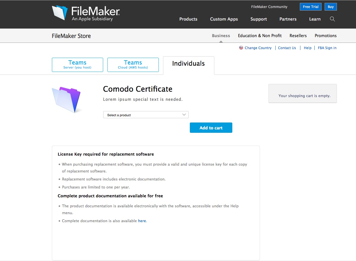 Renewing the default SSL certificate for FileMaker Cloud